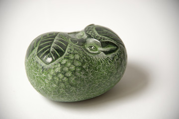 """Russia, Perm Krai, village Red Yasyl: """"hedgehog"""" - sculptures of the artist Nechayev Sergey:  animal stone sculpture"""