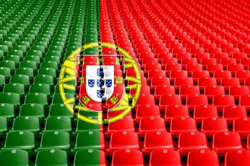 Portugal flag stadium seats