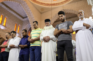 Sunni Muslims perform Eid al-Fitr prayers marking the end of the holy fasting month of Ramadan in Baghdad