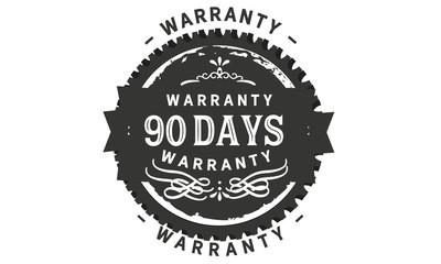 90 days warranty icon stamp