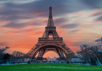 Foto op Plexiglas Eiffeltoren Eiffel tower - Paris, France