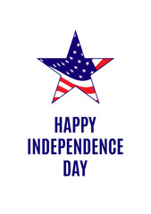 American independence day greeting card template illustration