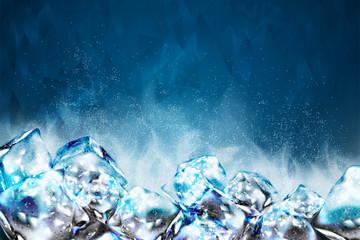 Fototapeta Frosty ice cubes background obraz