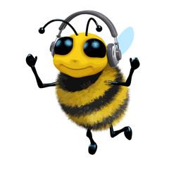 Vector 3d Music bee
