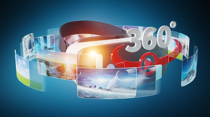 Virtual reality glasses technology illustration 3D rendering