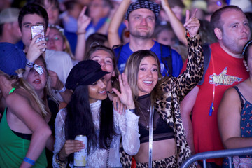 Revellers dance as Chromeo perform during the Firefly Music Festival in Dover