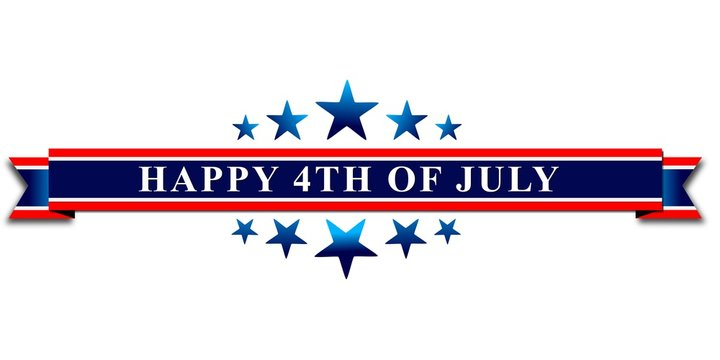 Happy 4th Of July USA Independence Day Header Or Banner Background.
