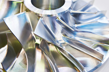 Blades of metal impeller