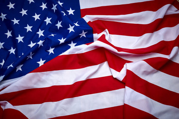 American flag wooden background