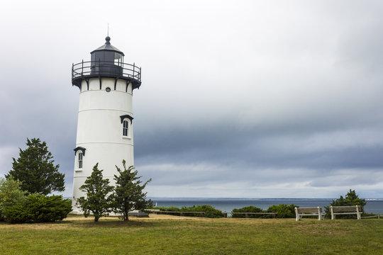 Martha's Vineyard, Massachusetts. East Chop (Telegraph Hill) Light, a lighthouse near the town of Oak Bluffs in the island of Martha's Vineyard