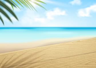 Bokeh beach scene