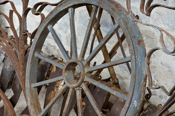 Wheel for iron cart