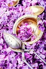 Fototapete - Herbal flower tea