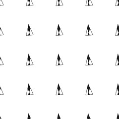 Triangles. Black and white seamless pattern. Geometric, abstract background for covers, textile. Doodle shapes.