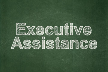 Business concept: text Executive Assistance on Green chalkboard background