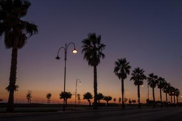 Sunset in Anzio, Italy
