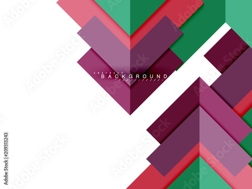 Multicolored abstract geometric shapes, geometry background