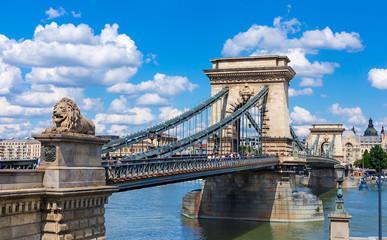 Printed kitchen splashbacks Budapest Chain Bridge over the Danube in Budapest, Hungary
