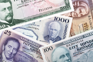 Old money from Iceland, a background