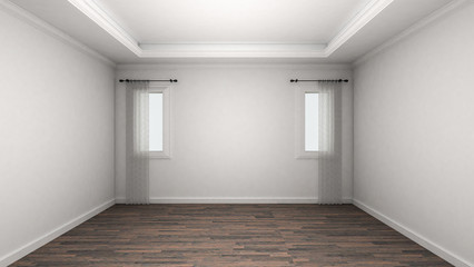 Empty Room Interior classic style. 3d Render