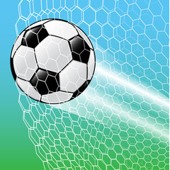 Soccer Ball In the net-Vector Illustration