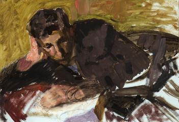 oil painting, portrait, handmade