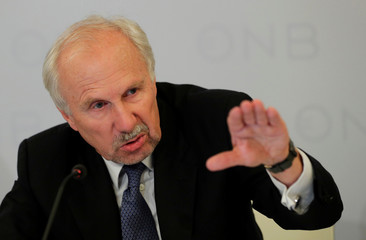 OeNB Governor Nowotny addresses a news conference in Vienna