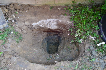 The foundation footing's of a home in England,