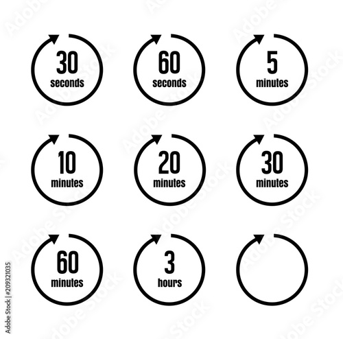 Clock , timer (time passage) icon set