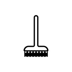brush/broom icon ( cleaning / sweep )