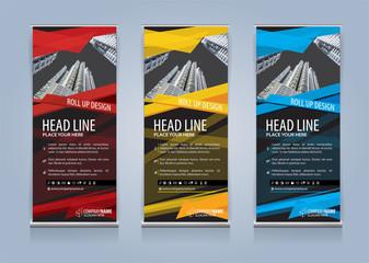 Roll Up Banner template design vector illustration, Presentation and Brochure Flyer. Vector illustration