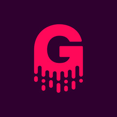 Dripping Vector Logo Letter G