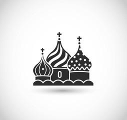 Kremlin icon vector