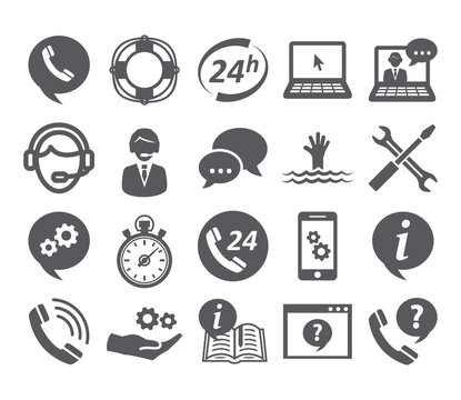 Support service icons