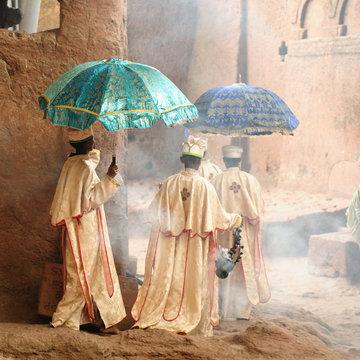 Holy place Lalibela in Ethiopia