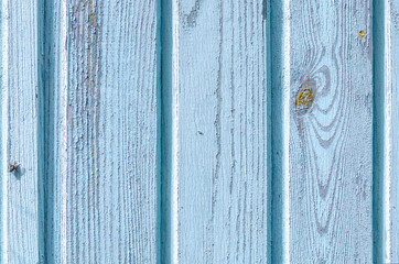 Wooden old painted blue boards vertically background