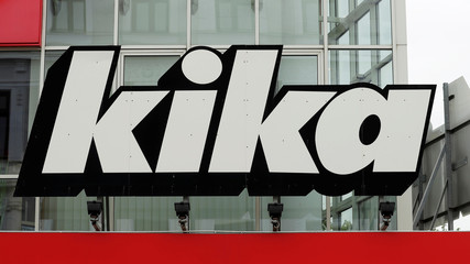 The logo of a Kika/Leiner store is seen in Vienna