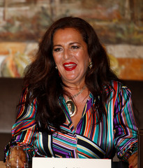Angela Missoni, Creative Director of Missoni, attends a news conference in Milan
