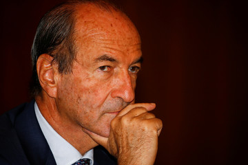 Italian manager Michele Norsa attends a news conference in Milan