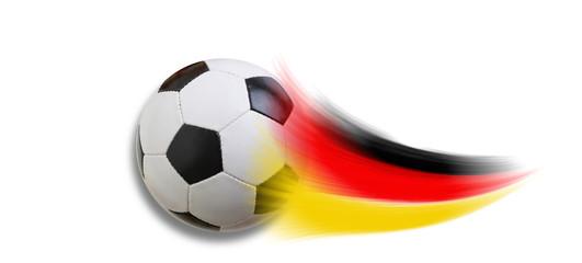 Fussball mit Schweif schwarz rot gold