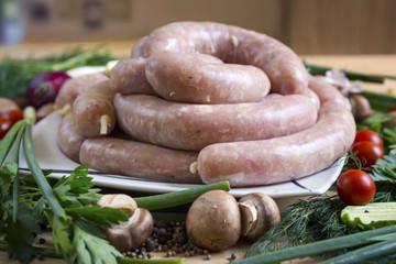 Home-made self-made sausage