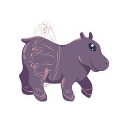 kawaii ballerina hippopotamus