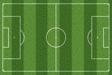 top view of grass soccer field background