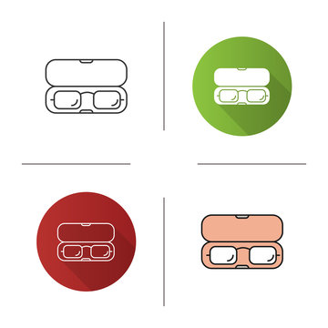 Eyeglasses case icon