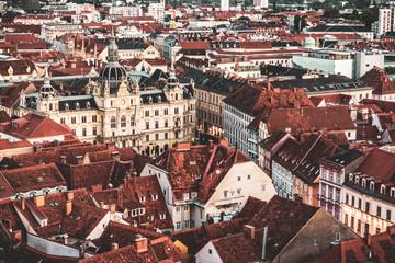 Graz Austria Cityscape Schlossberg