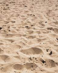 Artificial beach with holes in sand