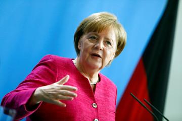 Germany's Merkel meets NATO Secretary-General Jens Stoltenberg