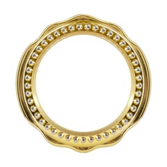 Metal golden round frame for paintings, mirrors or photos