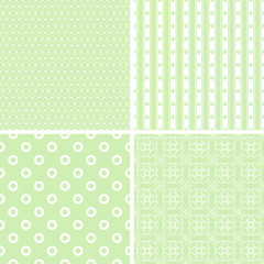 Chic different seamless patterns.