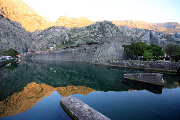 The walled city of Kotor in Montenegro